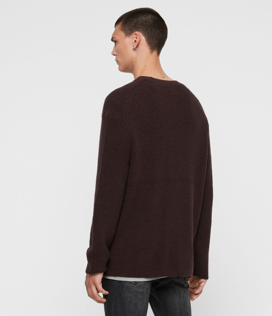 Men's Jensen Crew Jumper (oxblood_red) - Image 4