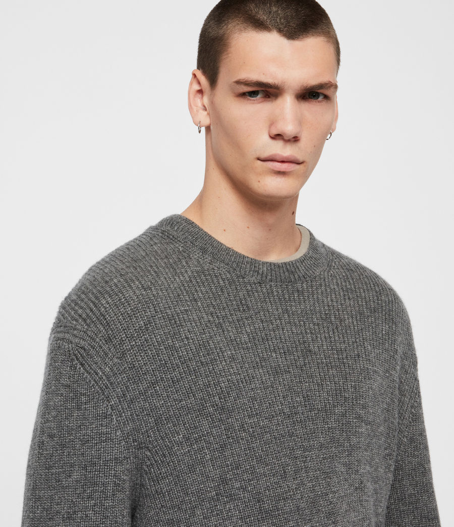 Mens Jensen Crew Sweater (charcoal_marl) - Image 2