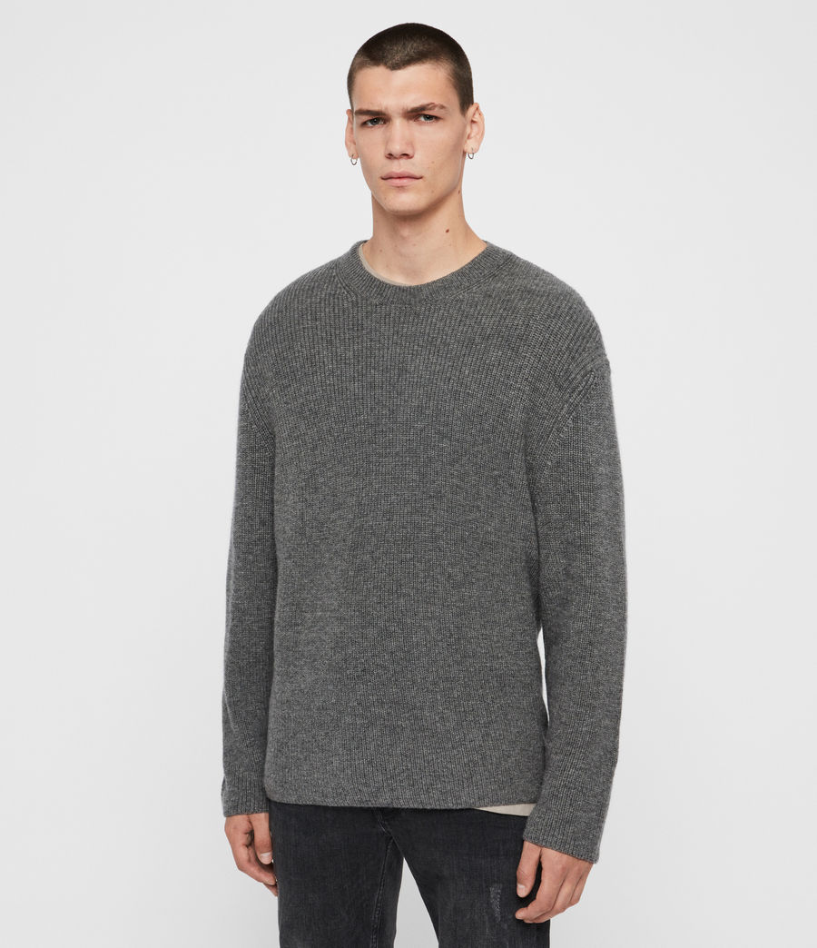 Mens Jensen Crew Sweater (charcoal_marl) - Image 4
