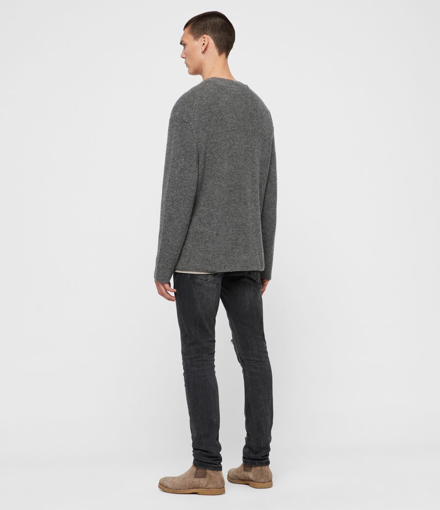 Mens Jensen Crew Sweater (charcoal_marl) - Image 5