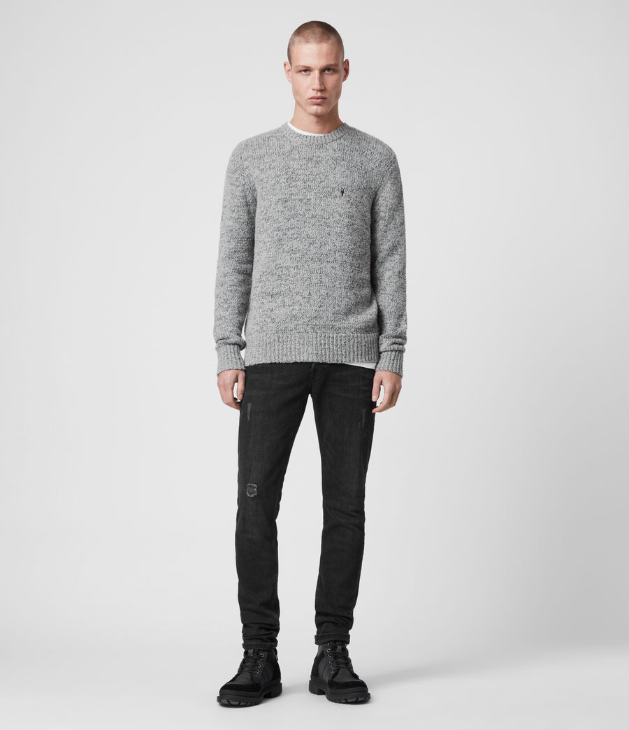 Herren Spire Pullover (grey_marl_black) - Image 3