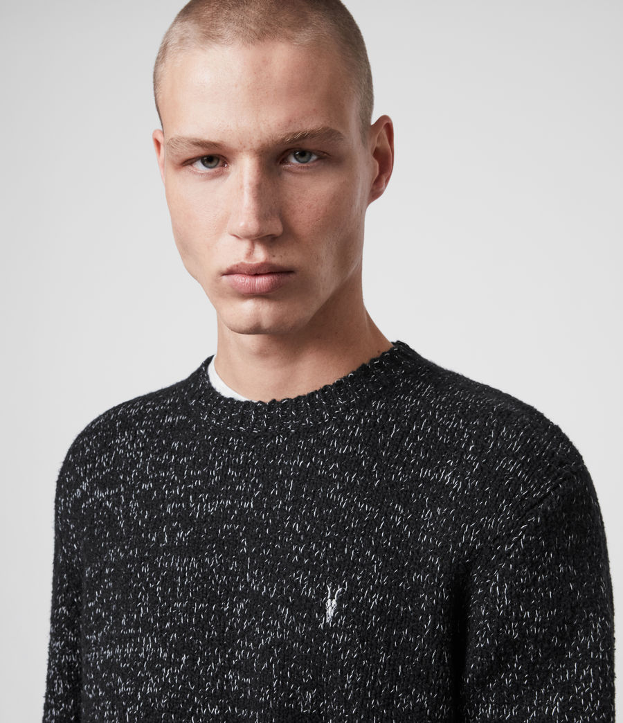 Mens Spire Crew Sweater (black_marl_ecru) - Image 2