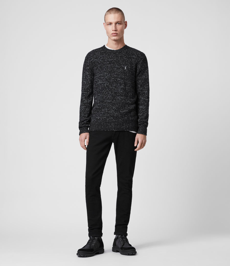 Mens Spire Crew Sweater (black_marl_ecru) - Image 4