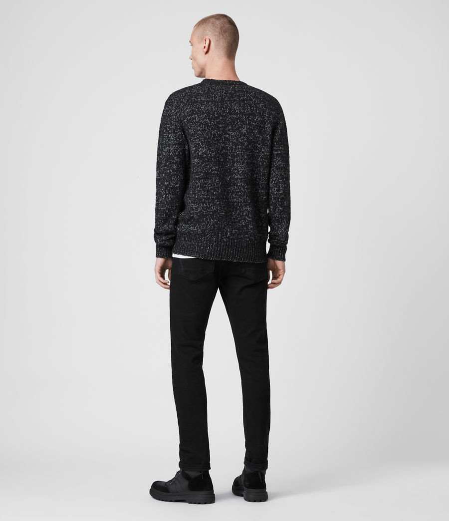 Mens Spire Crew Sweater (black_marl_ecru) - Image 5