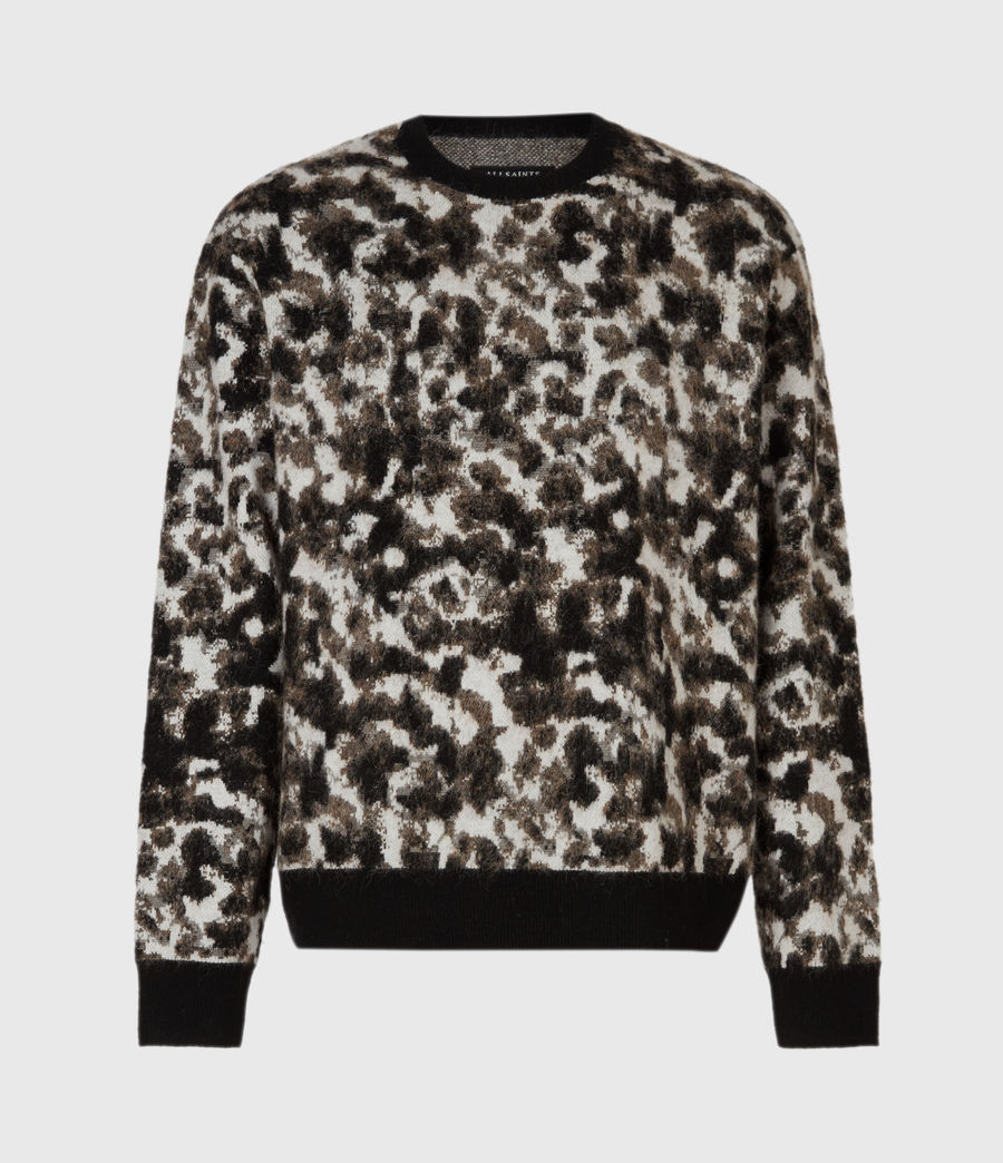 Mens Tortis Crew Sweater (black_ecru) - Image 2