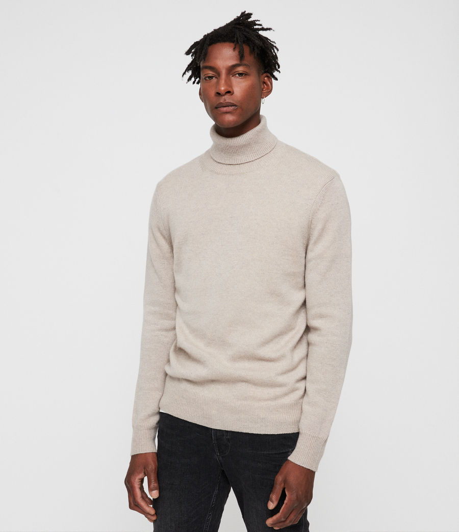 Mens Travon Roll Neck (taupe_marl) - Image 1