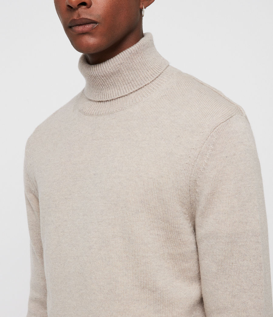 Mens Travon Roll Neck (taupe_marl) - Image 2