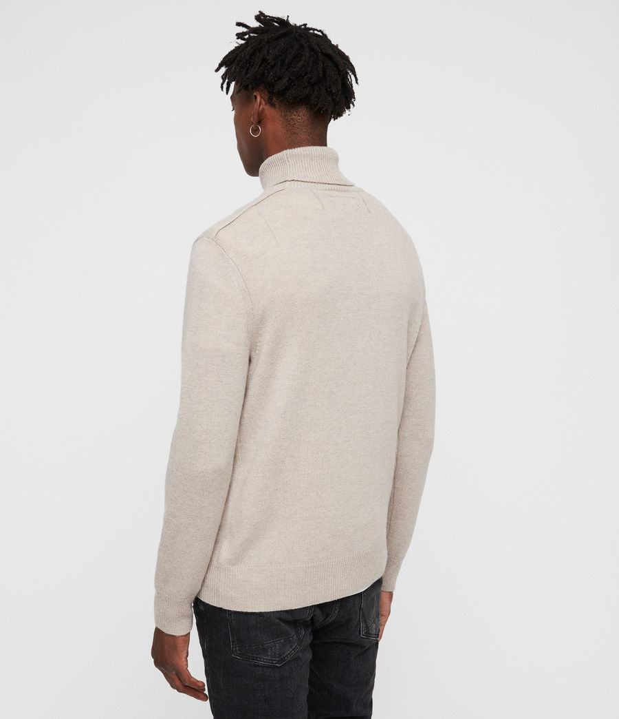 Mens Travon Roll Neck (taupe_marl) - Image 4