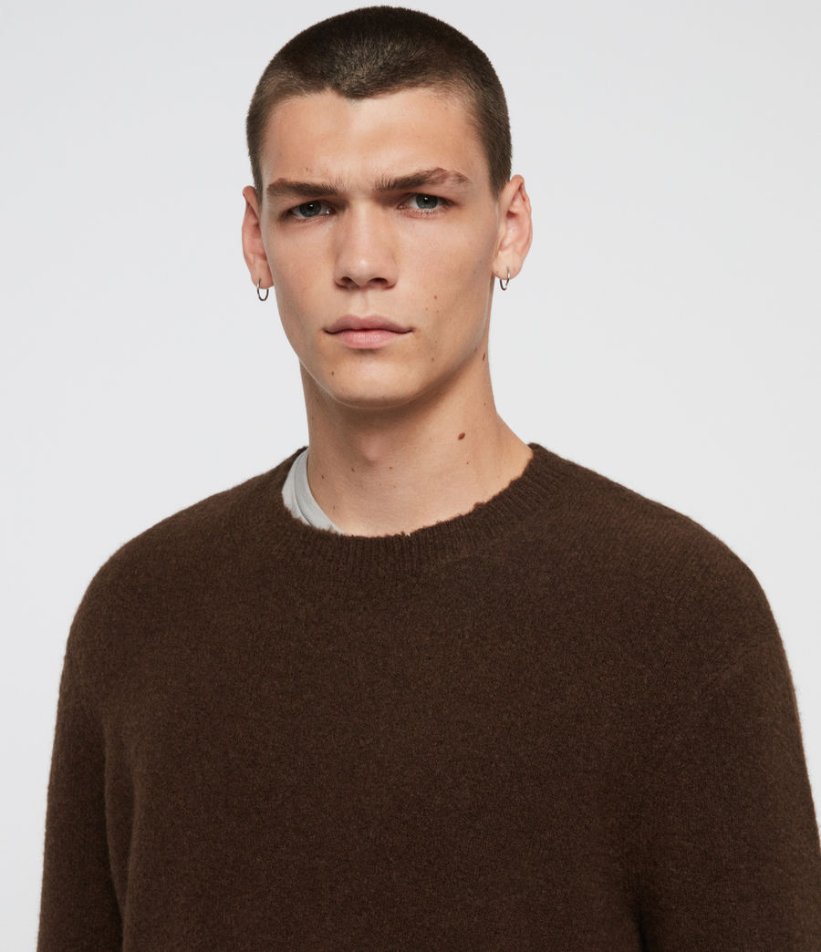 Men's Kez Crew Jumper (umber_brown) - Image 2