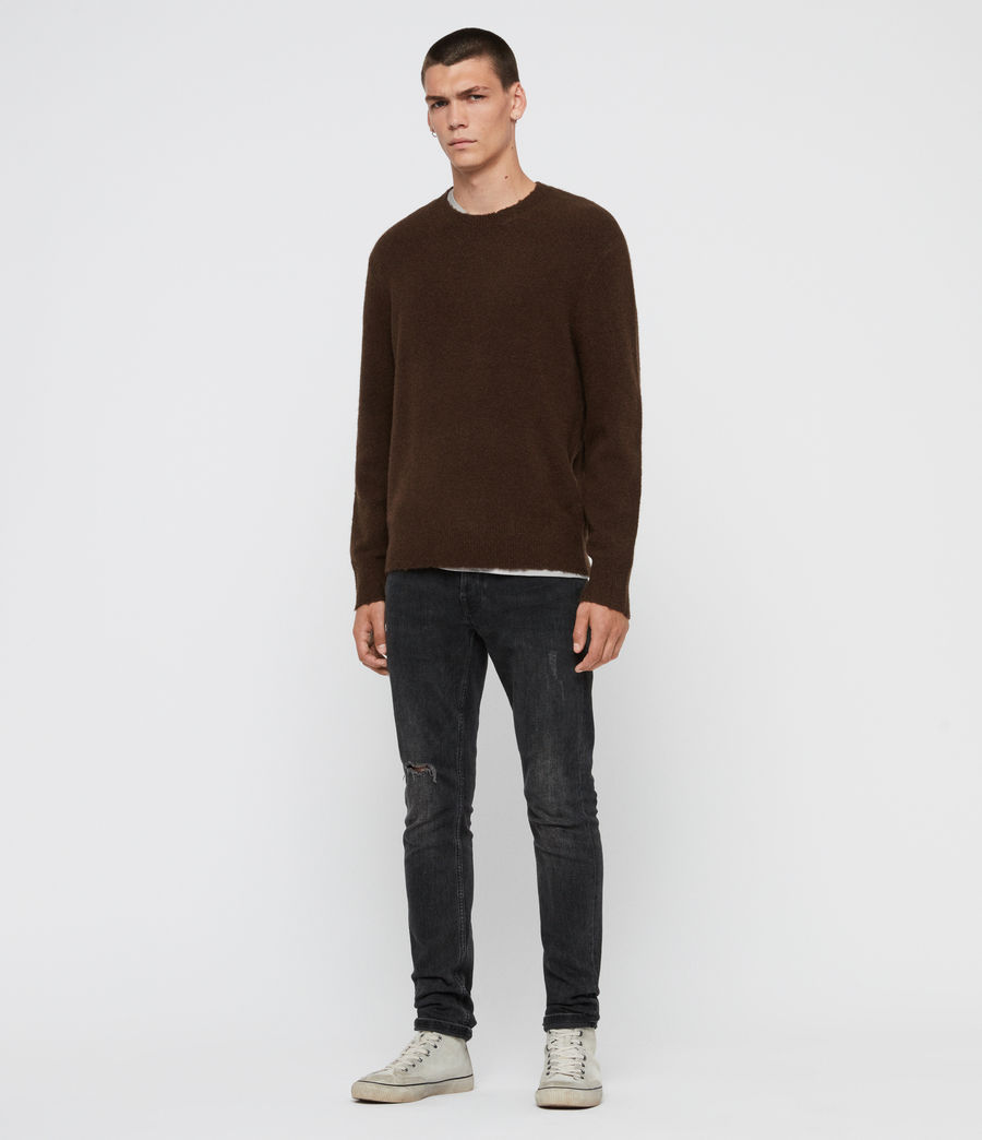 Men's Kez Crew Jumper (umber_brown) - Image 4