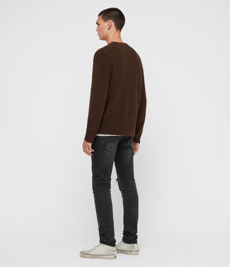 Men's Kez Crew Jumper (umber_brown) - Image 5