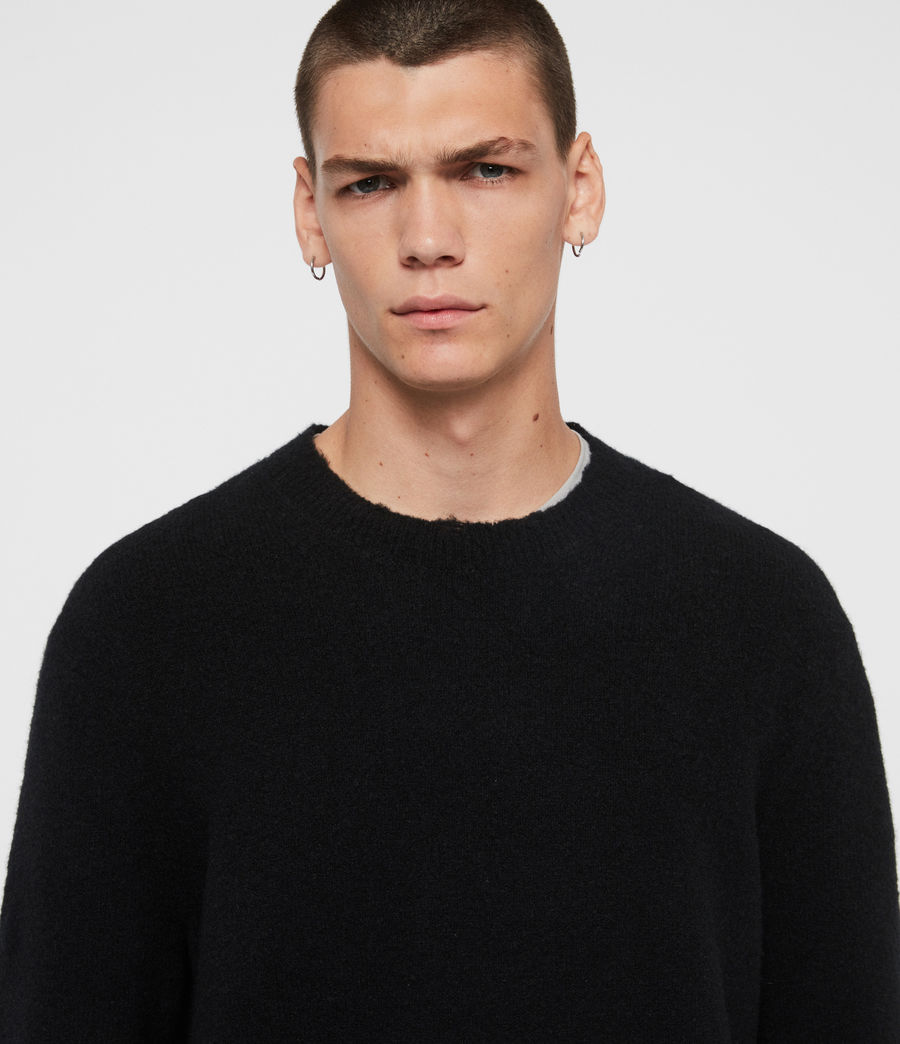 Men's Kez Crew Jumper (black) - Image 2