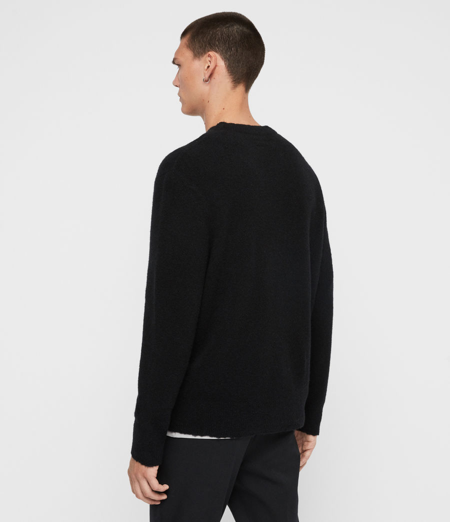 Men's Kez Crew Jumper (black) - Image 5