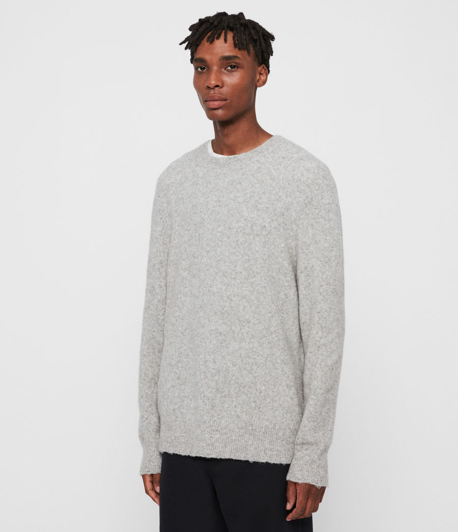 Mens Kez Crew Sweater (tin_grey_marl) - Image 3