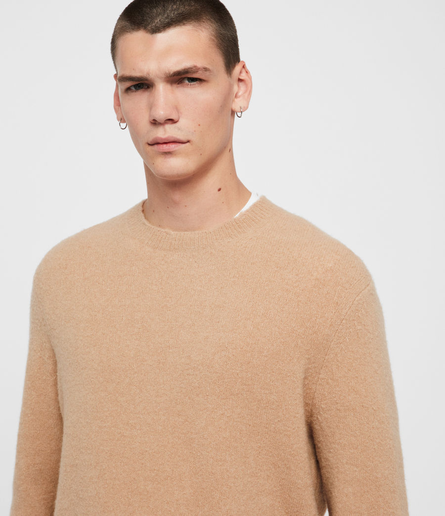 Men's Kez Crew Jumper (tin_grey_marl) - Image 2