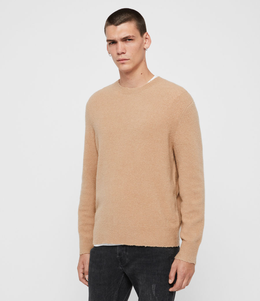 Men's Kez Crew Jumper (black) - Image 4
