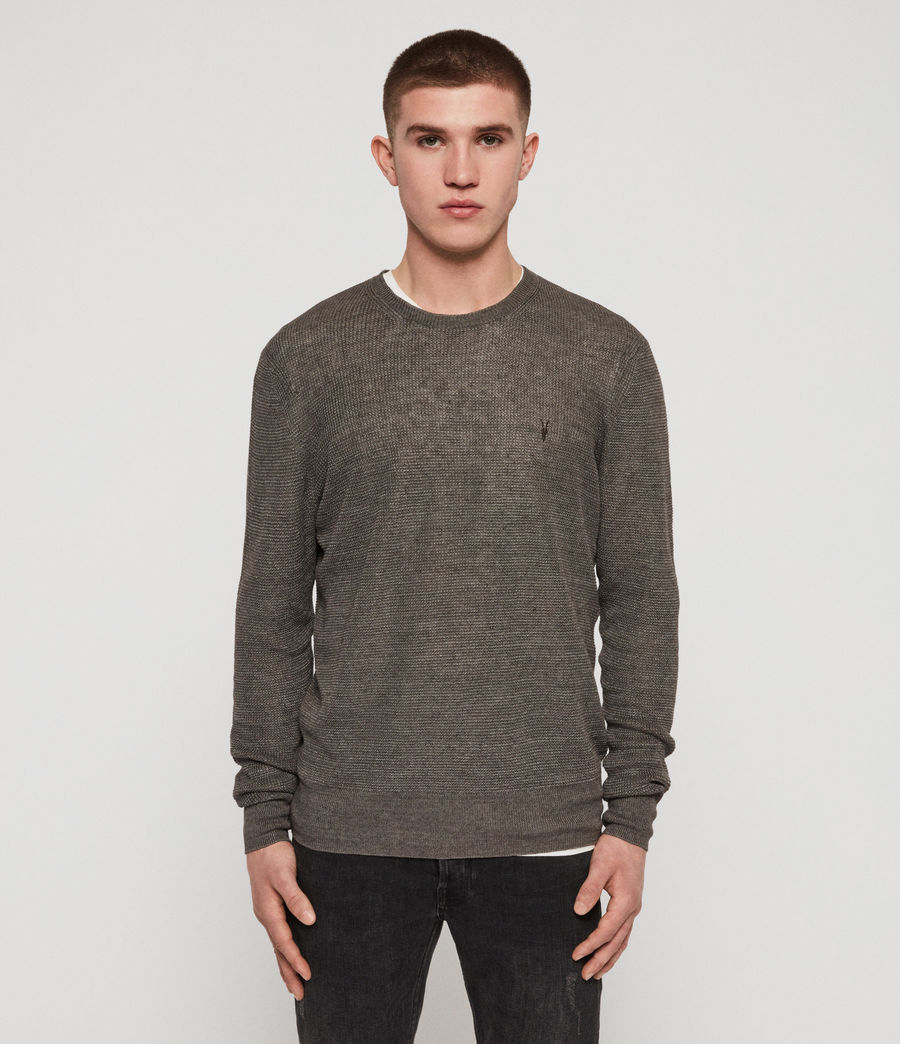 Mens Tarn Linen Crew Sweater (pewter_grey) - Image 1