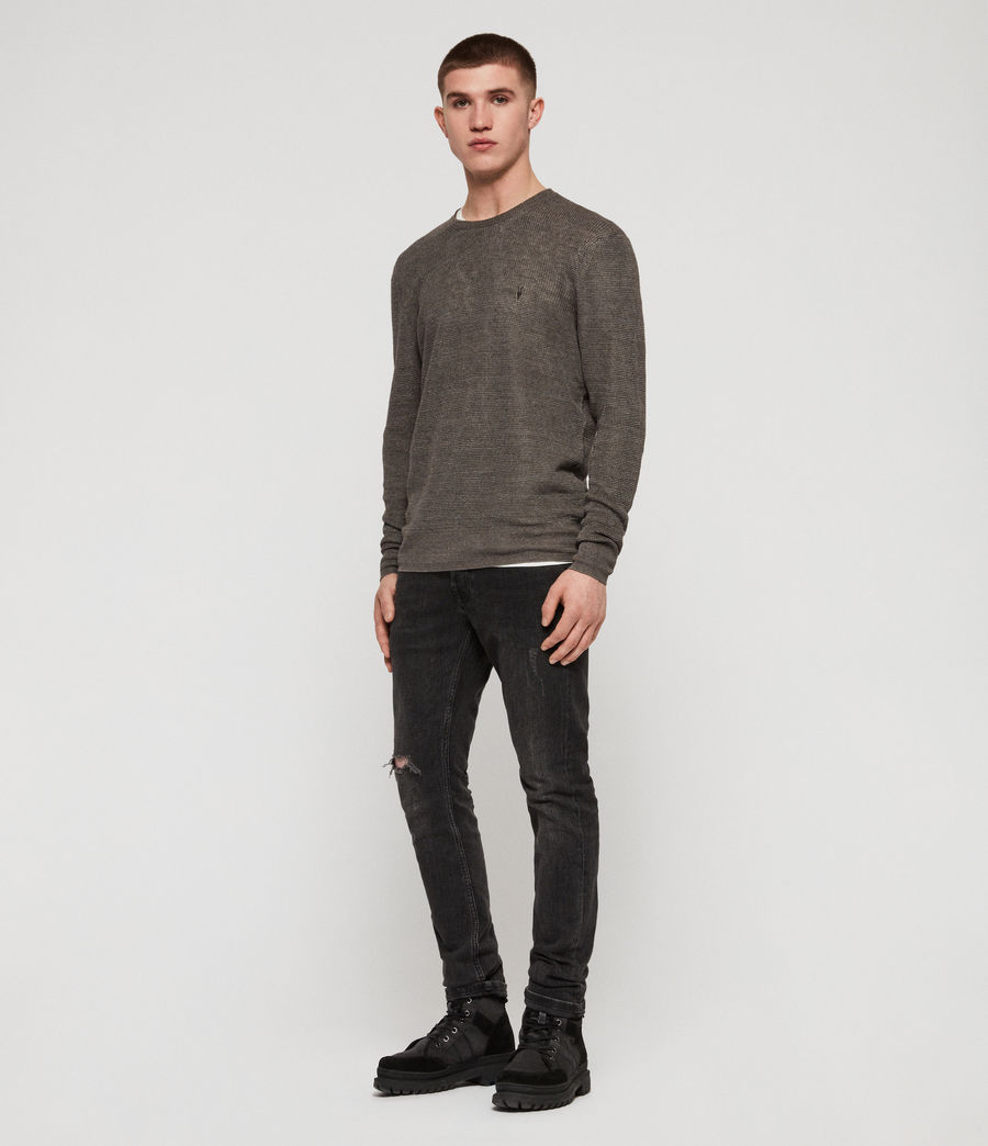 Mens Tarn Linen Crew Sweater (pewter_grey) - Image 3