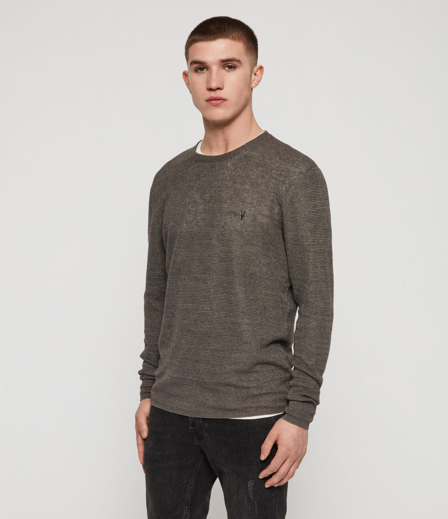 Mens Tarn Linen Crew Sweater (pewter_grey) - Image 4