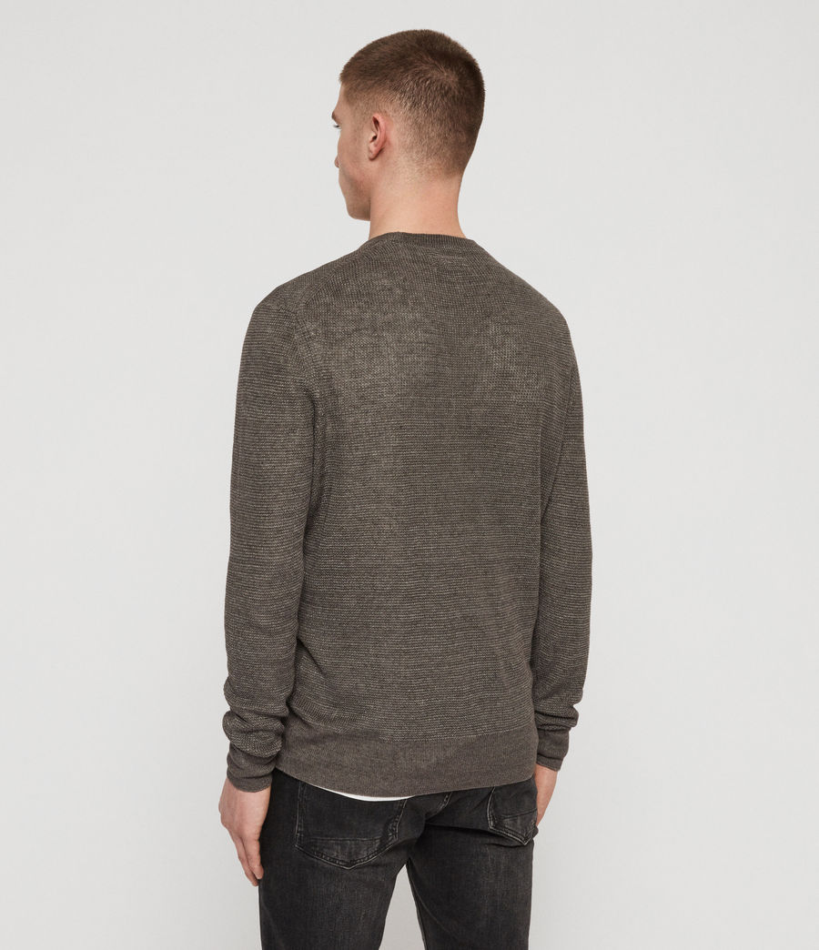 Mens Tarn Linen Crew Sweater (pewter_grey) - Image 5