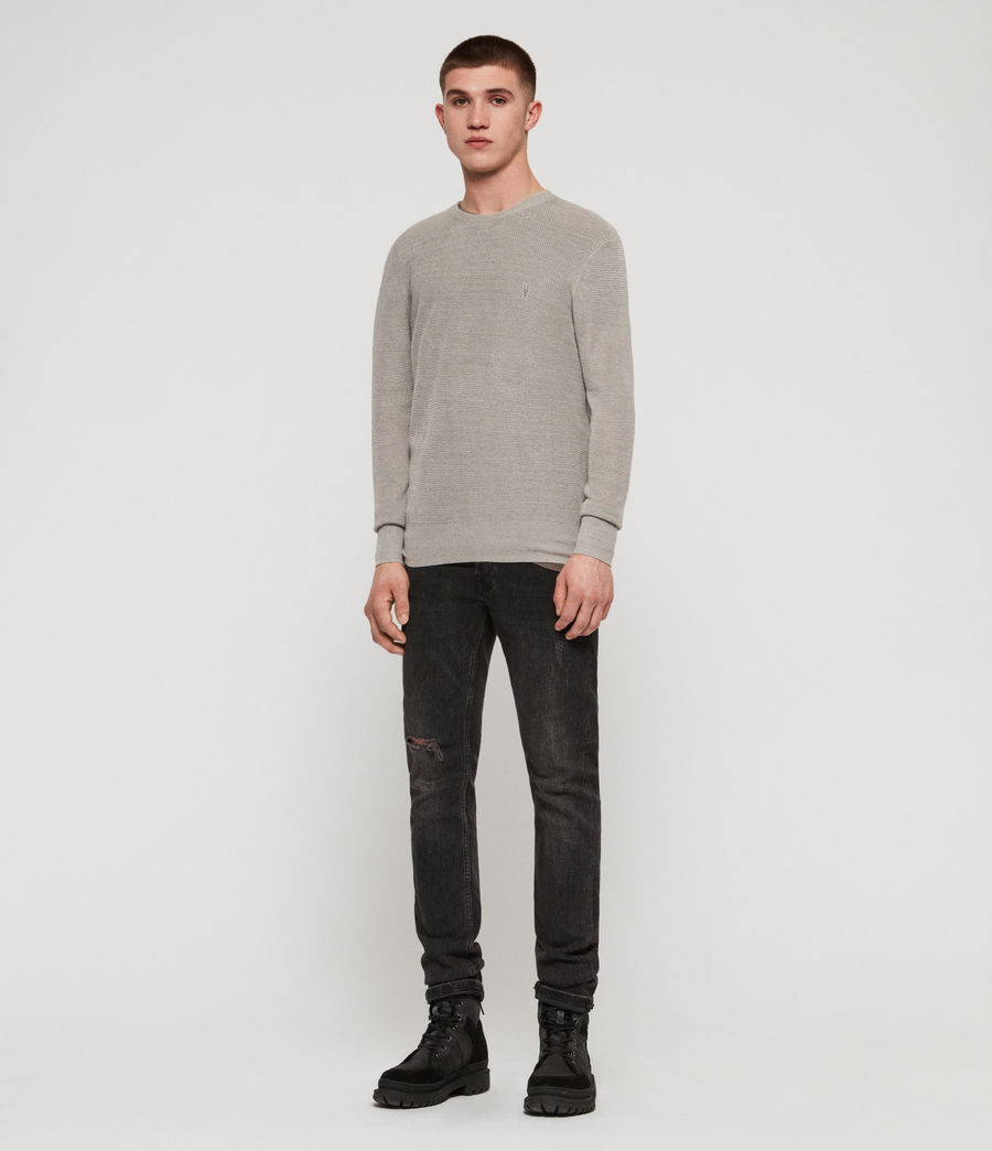 Men's Tarn Linen Crew Jumper (pewter_grey) - Image 3