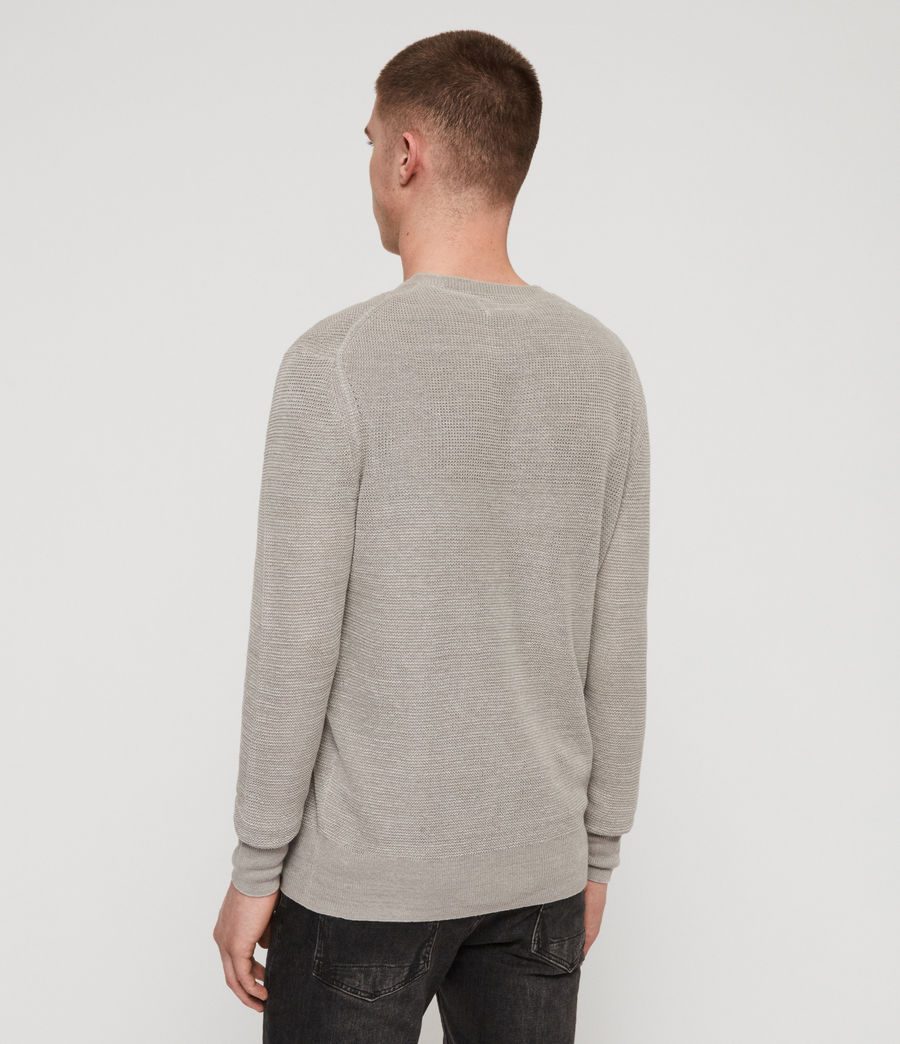 Men's Tarn Linen Crew Jumper (pewter_grey) - Image 5