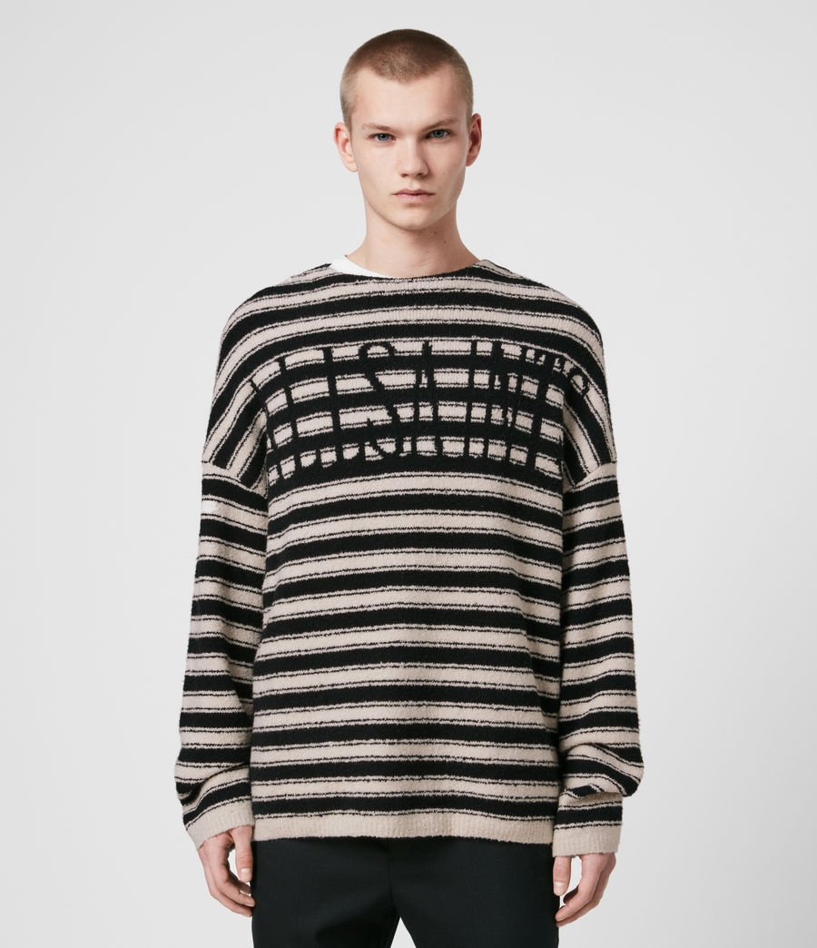 Men's Rivven Saints Crew Jumper (ecru_black) - Image 1