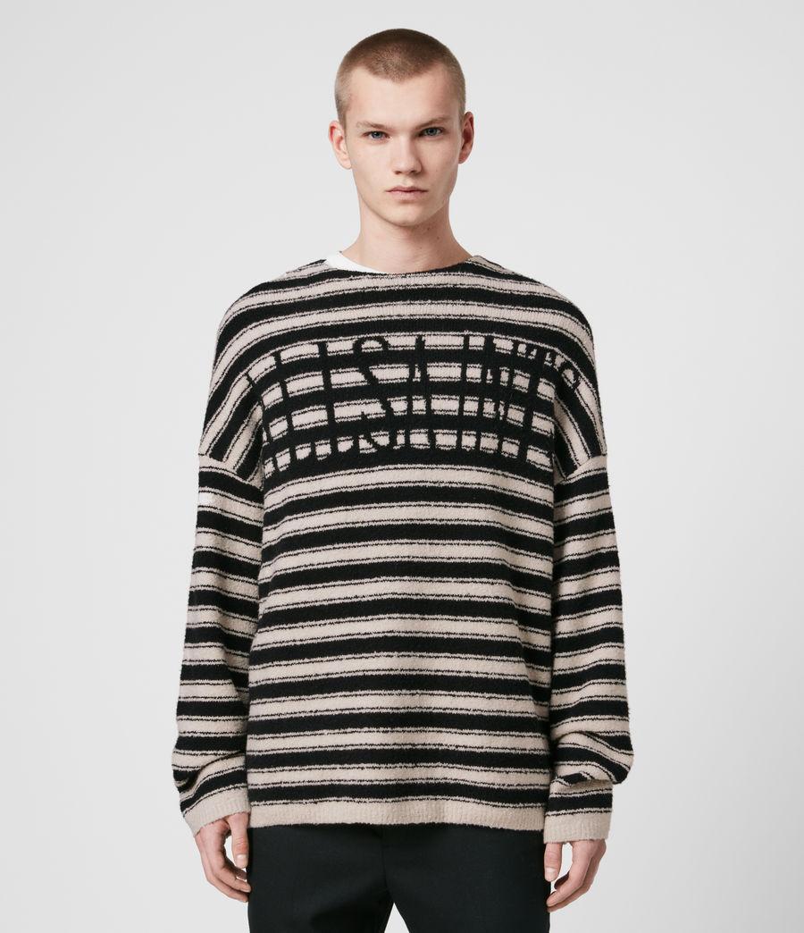 Hombre Rivven Saints Crew Sweater (ecru_black) - Image 1