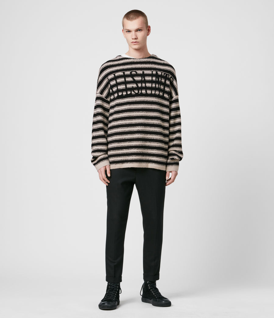Men's Rivven Saints Crew Jumper (ecru_black) - Image 2