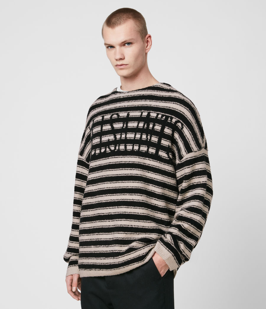 Men's Rivven Saints Crew Jumper (ecru_black) - Image 3