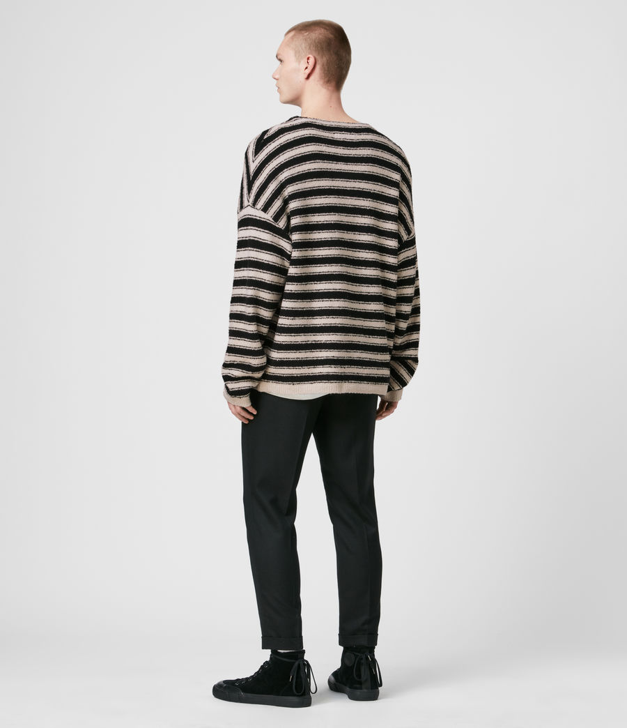 Men's Rivven Saints Crew Jumper (ecru_black) - Image 4