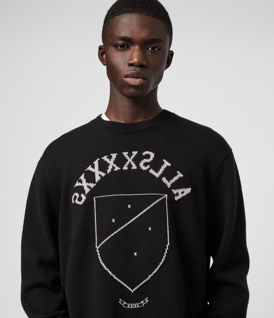Men's Shields Crew Jumper (black_cement) - Image 1