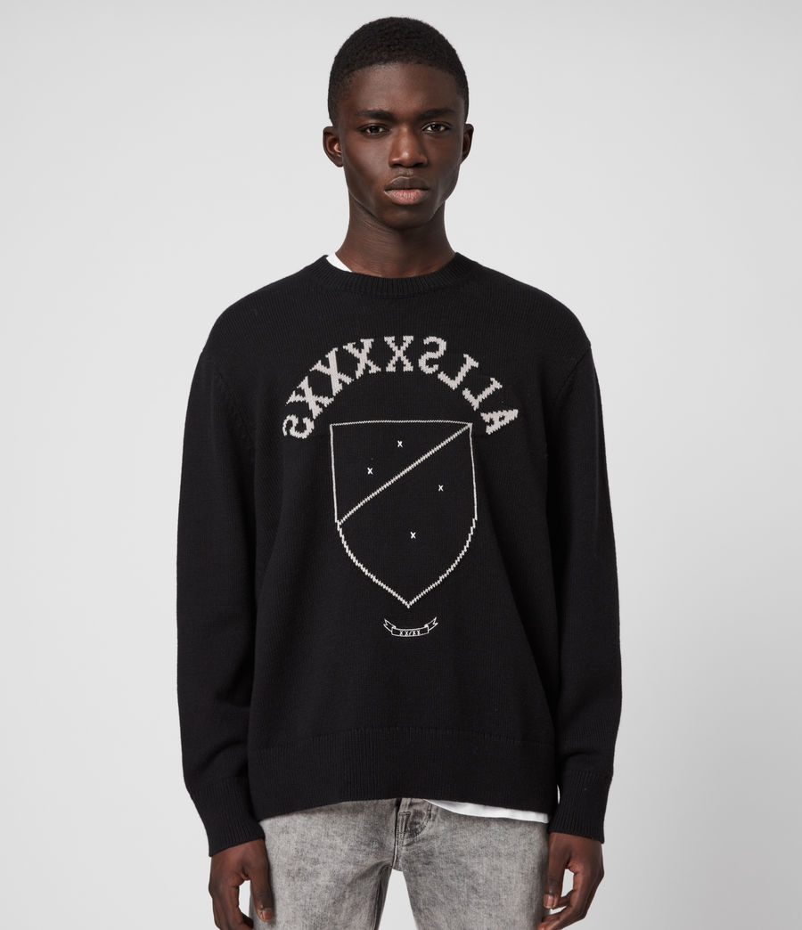 Men's Shields Crew Jumper (black_cement) - Image 2