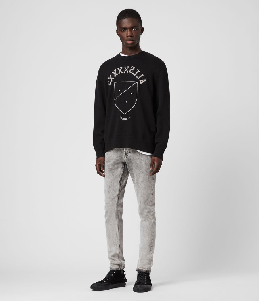 Men's Shields Crew Jumper (black_cement) - Image 3