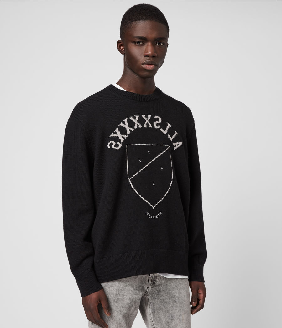 Men's Shields Crew Jumper (black_cement) - Image 4