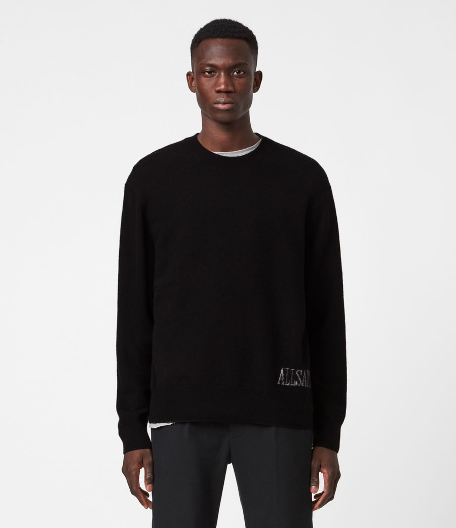 Men's Frame Crew Jumper (black) - Image 1