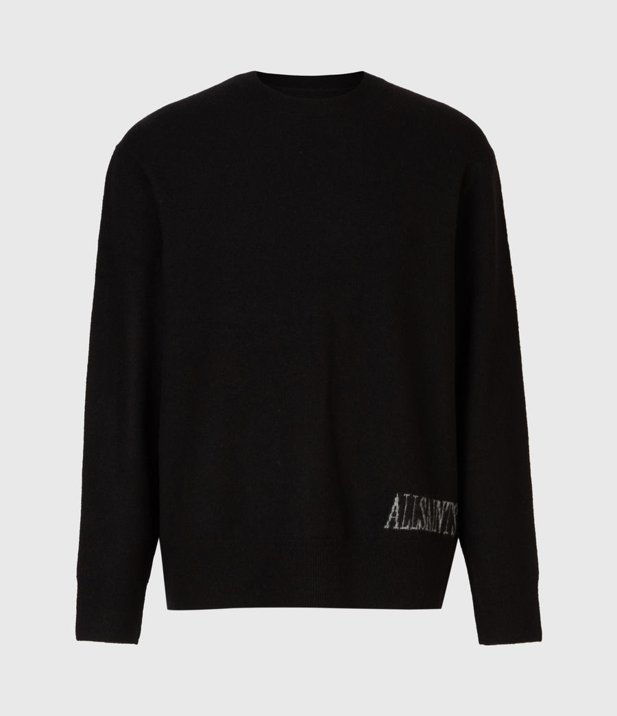 Men's Frame Crew Jumper (black) - Image 2