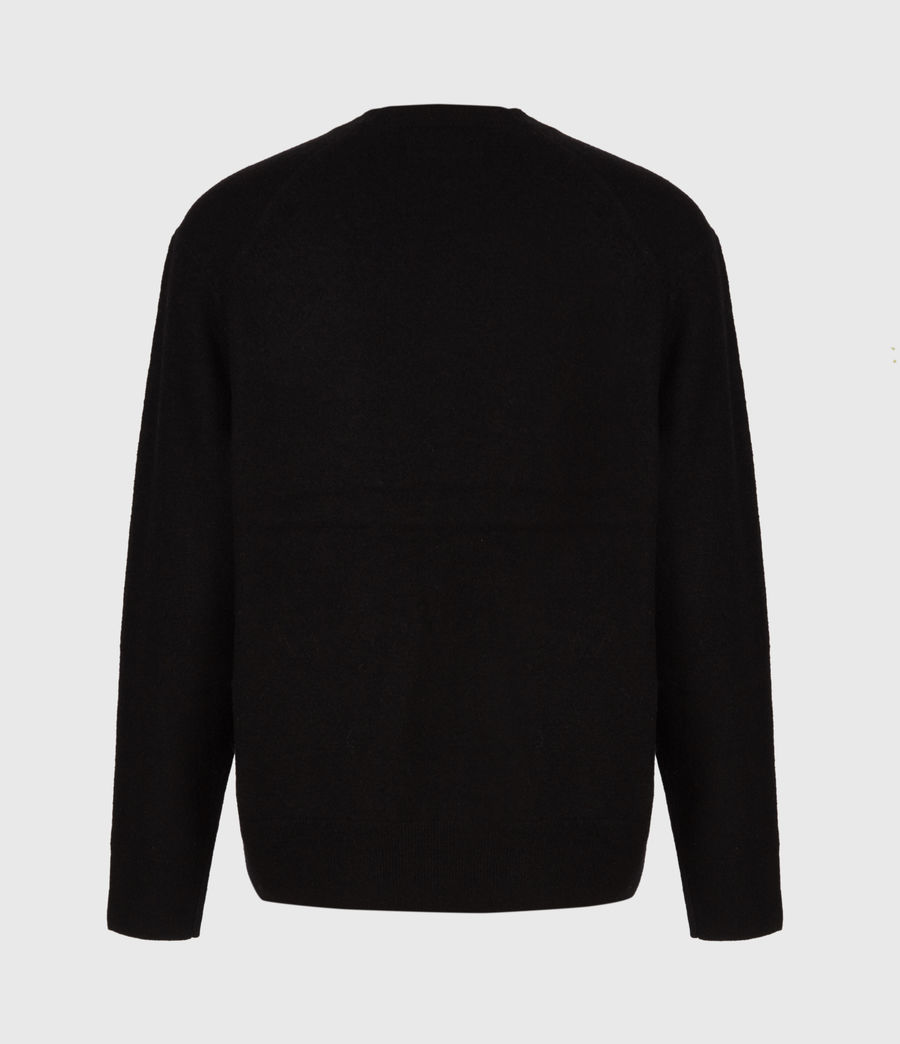 Men's Frame Crew Jumper (black) - Image 3
