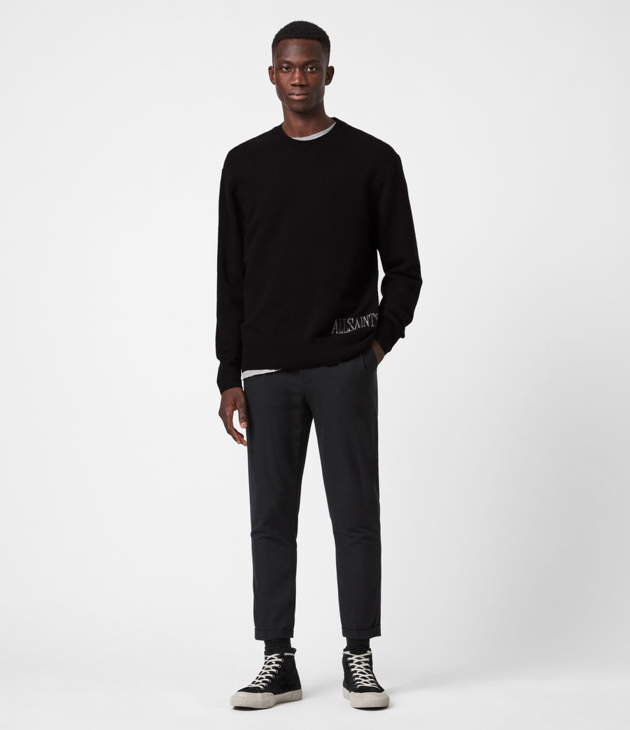 Men's Frame Crew Jumper (black) - Image 4