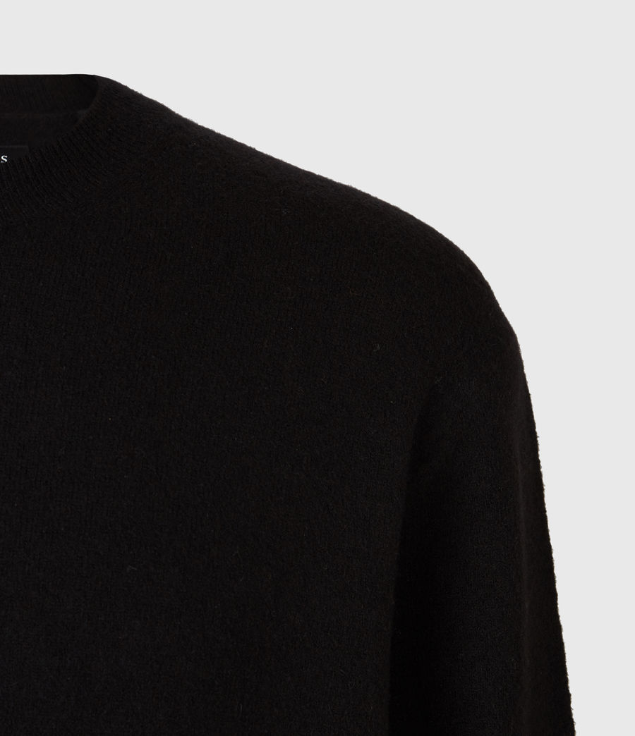Men's Frame Crew Jumper (black) - Image 5