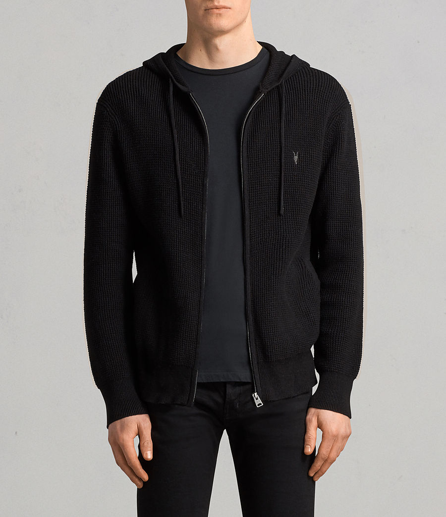 Men's Mert Knitted Zip Hoody (black) - Image 1