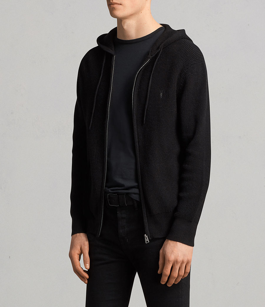 Men's Mert Knitted Zip Hoody (black) - Image 2