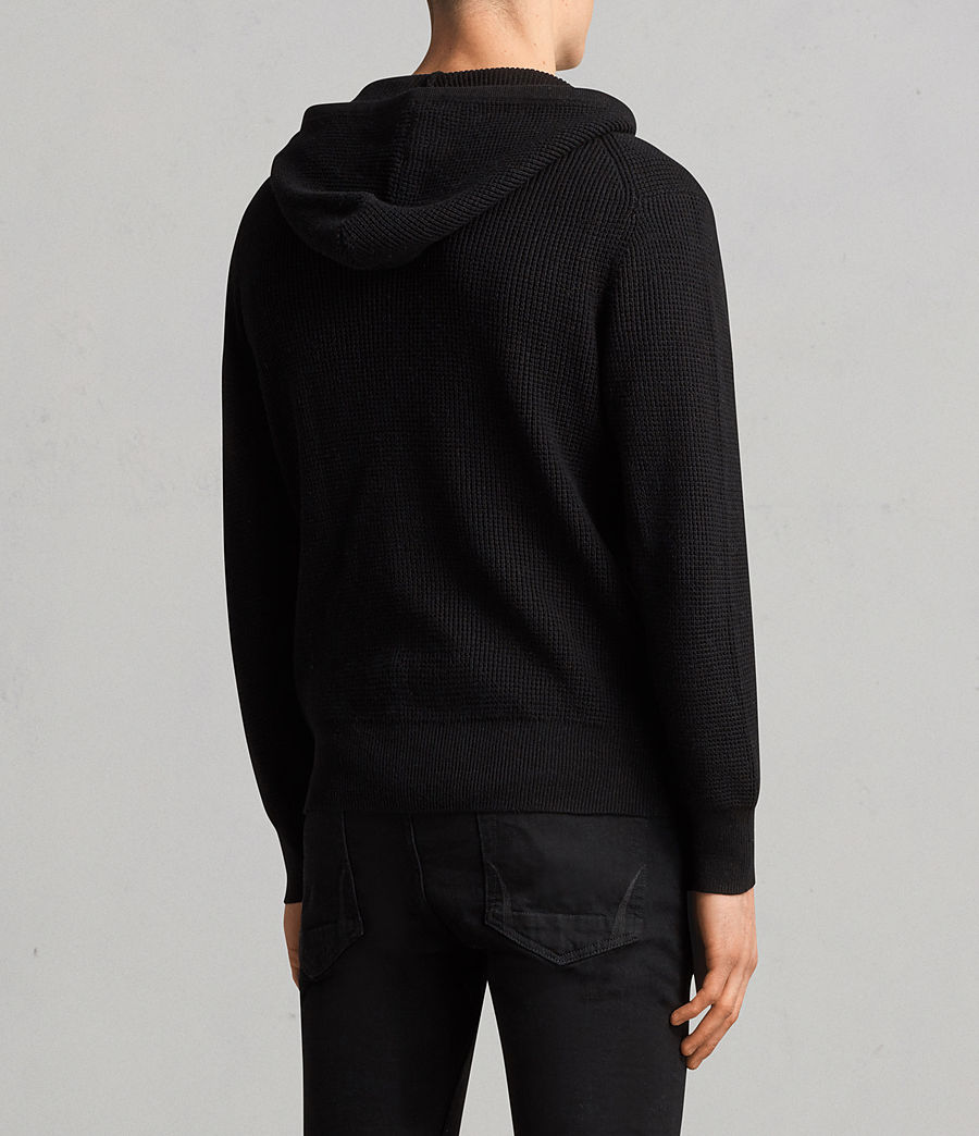 Men's Mert Knitted Zip Hoody (black) - Image 4