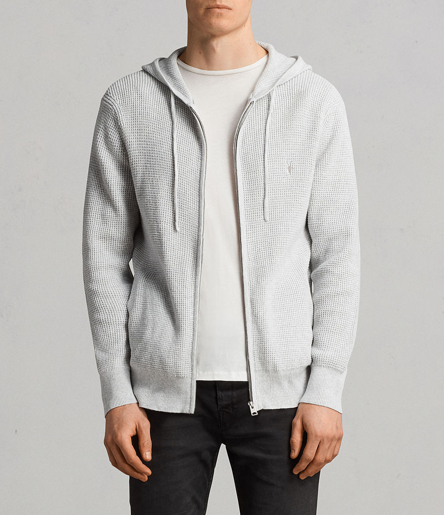 Men's Mert Knitted Zip Hoody (march_grey_marl) - Image 1