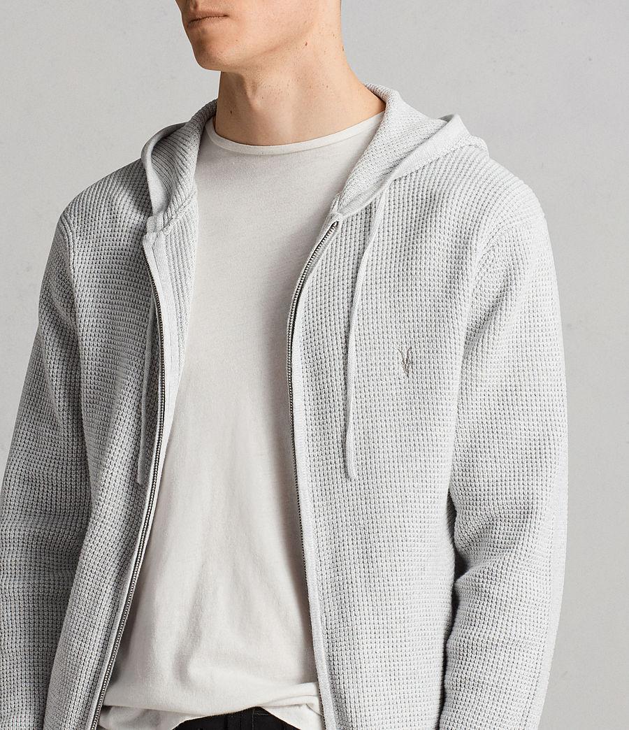 Men's Mert Knitted Zip Hoody (march_grey_marl) - Image 4