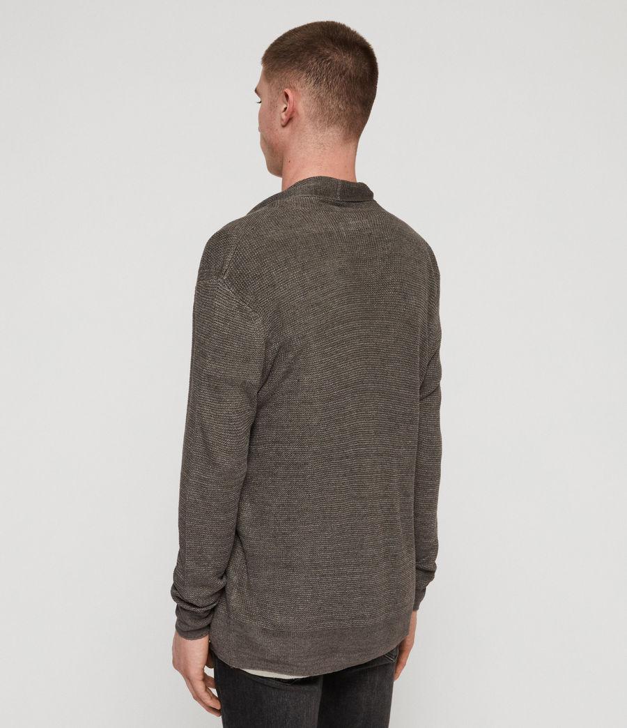 Mens Tarn Linen Cardigan (charcoal) - Image 5
