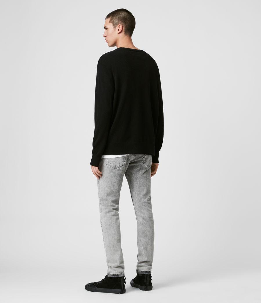 Mens Decem Crew Sweater (blk_ecru_grey_marl) - Image 4