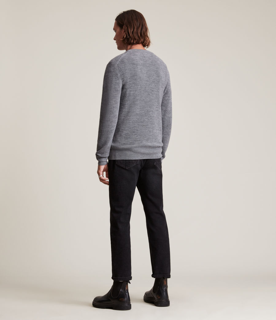Men's Ivar Merino Crew Jumper (black) - Image 3