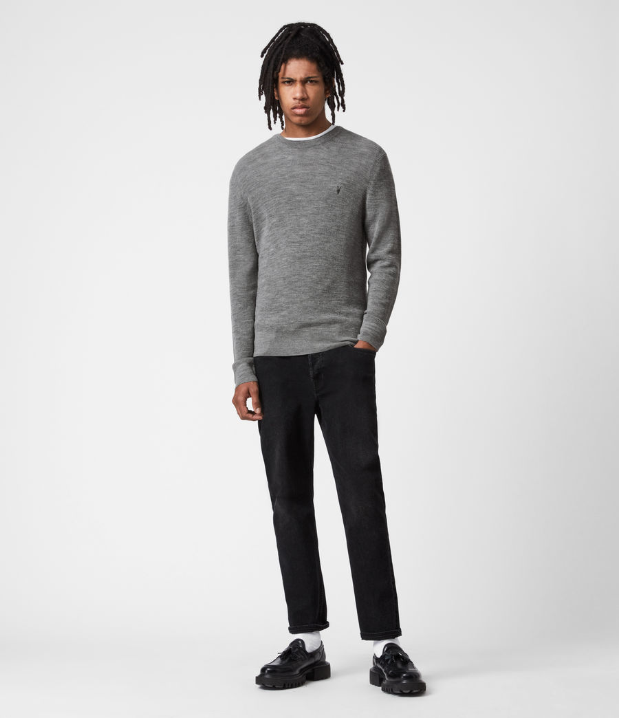 Mens Ivar Merino Crew Sweater (grey_marl) - Image 6