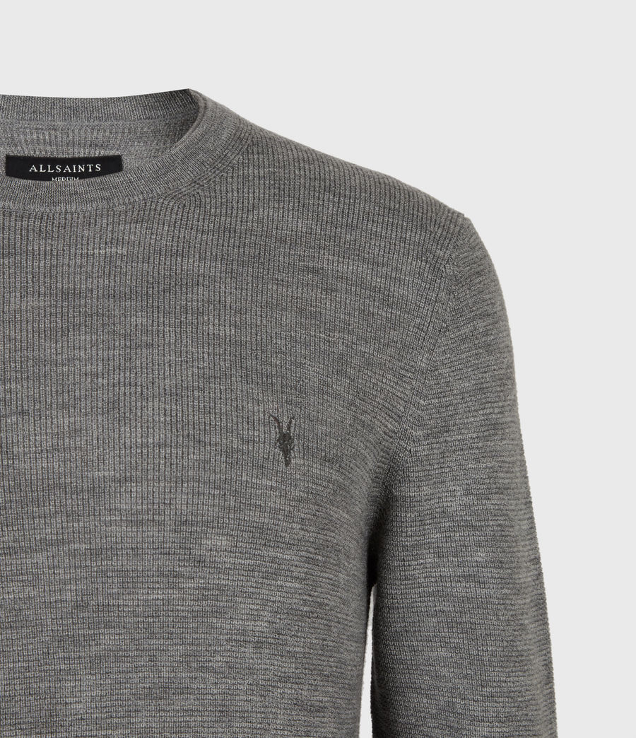 Mens Ivar Merino Crew Sweater (grey_marl) - Image 4